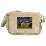 Starry / Tibetan Spaniel Messenger Bag