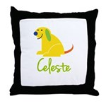 Celeste Loves Puppies Throw Pillow