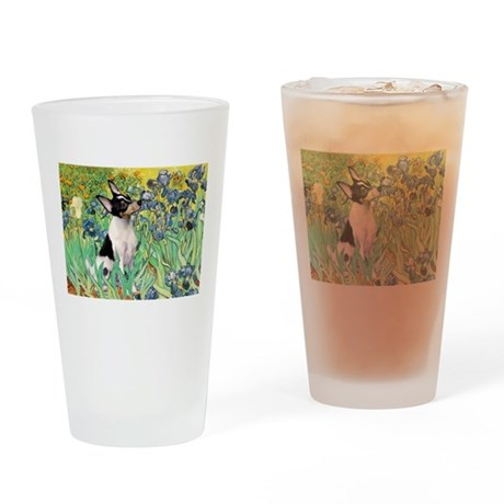 Irises / Toy Fox T Drinking Glass
