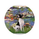 Lilies / Toy Fox T Ornament (Round)