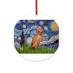 Starry Night / Vizsla Ornament (Round)