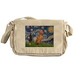 Starry Night / Vizsla Messenger Bag