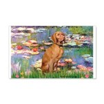 Lilies / Vizsla 20x12 Wall Decal
