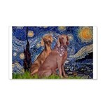 Starry / 2 Weimaraners 20x12 Wall Decal