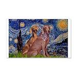 Starry / 2 Weimaraners 20x12 Wall Decal