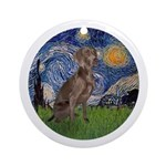 Starry / Weimaraner Ornament (Round)