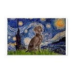 Starry / Weimaraner 20x12 Wall Decal