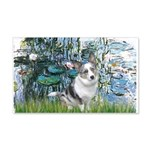 Lilies (#1) - Corgi (Bl.M) 20x12 Wall Decal