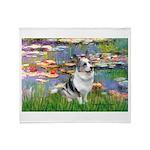 Lilies (#2) - Corgi (Bl.M) Throw Blanket