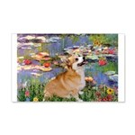 Lilies (2) & Corgi 20x12 Wall Decal