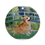 Bridge / Corgi Ornament (Round)