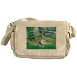 Bridge / Welsh Corgi (Bl.M) Messenger Bag