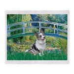 Bridge / Welsh Corgi (Bl.M) Throw Blanket