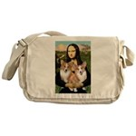 Mona / Corgi Pair (p) Messenger Bag