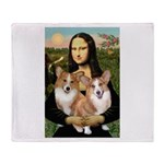 Mona / Corgi Pair (p) Throw Blanket