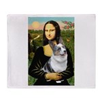 Mona's Corgi (Bl.M) Throw Blanket