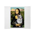 Mona's Corgi (Bl.M) Throw Blanket