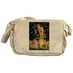 Fairies & Corgi Messenger Bag