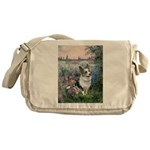 The Seine - Corgi (Bl.M) Messenger Bag