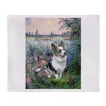 The Seine - Corgi (Bl.M) Throw Blanket