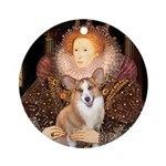 The Queen's Corgi Ornament (Round)