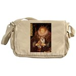 The Queen's Corgi Messenger Bag