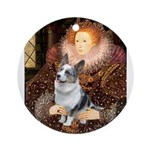 The Queen's Corgi (Bl.M) Ornament (Round)