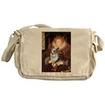 The Queen's Corgi (Bl.M) Messenger Bag