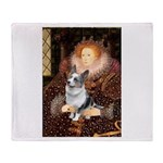 The Queen's Corgi (Bl.M) Throw Blanket