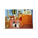 Room / Corgi pair 20x12 Wall Decal