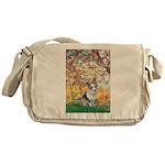 Spring - Corgi (Bl.M) Messenger Bag