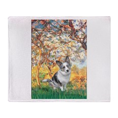 Spring - Corgi (Bl.M) Throw Blanket