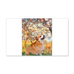 Spring / Corgi 20x12 Wall Decal