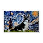 Starry Night / Welsh Corgi(bi 20x12 Wall Decal