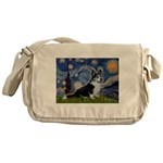 Starry Night / Welsh Corgi(bi Messenger Bag