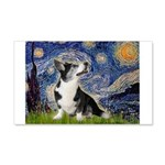 Starry Night / Welsh Corgi 20x12 Wall Decal