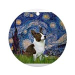 Starry Night / Welsh Corgi Ornament (Round)