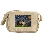 Starry Night / Welsh Corgi Messenger Bag