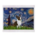 Starry Night / Welsh Corgi Throw Blanket