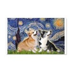 Starry Night / Corgi pair 20x12 Wall Decal