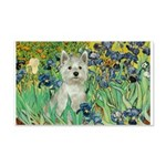 Irises / Westie 20x12 Wall Decal