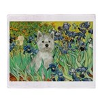 Irises / Westie Throw Blanket