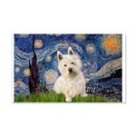 Starry Night/Westie 20x12 Wall Decal