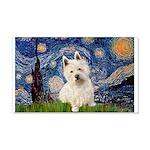 Starry Night/Westie 20x12 Wall Decal