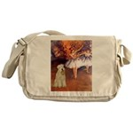 Dancer1/Wheaten T (7) Messenger Bag