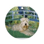 Bridge & Wheaten Ornament (Round)