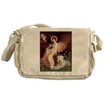 Seated Angel & Wheaten Messenger Bag