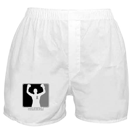 Brain Cancer Survivor Man Boxer Shorts