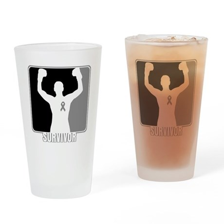 Brain Cancer Survivor Man Drinking Glass