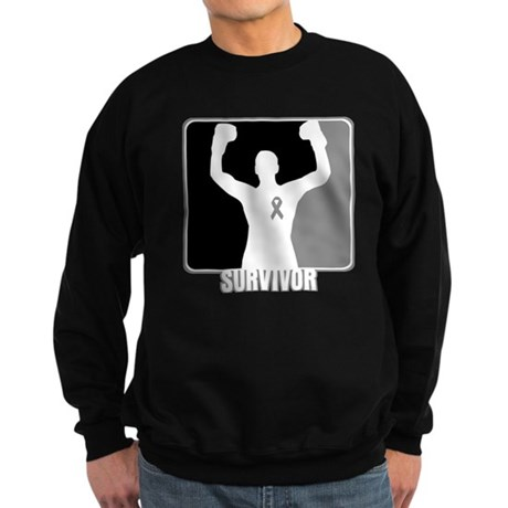 Brain Cancer Survivor Man Sweatshirt (dark)